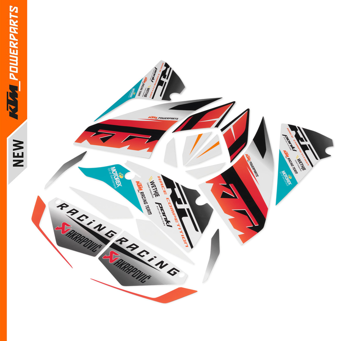 GRAPHICS KIT RACE KTM RC 200 250 390